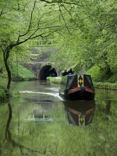 Narrow Boat Cruising the Llangollen Canal, England, United Kingdom, Europe-Richard Maschmeyer-Photographic Print