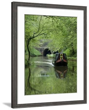 Narrow Boat Cruising the Llangollen Canal, England, United Kingdom, Europe-Richard Maschmeyer-Framed Photographic Print