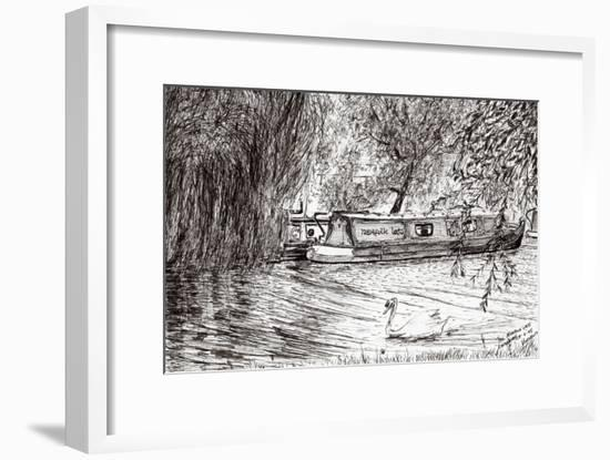 Narrow boats Cambridge, 2005,-Vincent Alexander Booth-Framed Giclee Print