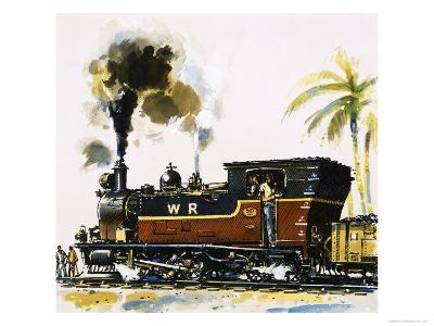 Narrow Guage Wt Class Bagnall-Built Tank Engine on the Western Railways-John S^ Smith-Giclee Print