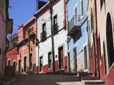 Narrow Street, Guanajuato, Guanajuato State, Mexico, North America-Wendy Connett-Photographic Print