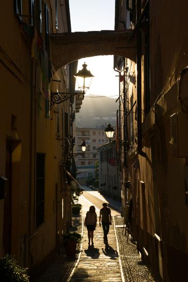 Narrow Street, Imperia, Liguria, Italy, Europe-Frank Fell-Photographic Print