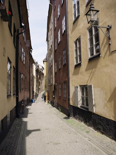 Narrow Street in Gamla Stan, Old Town, Stockholm, Sweden, Scandinavia-Richard Ashworth-Photographic Print