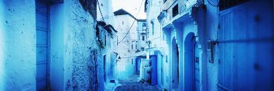 Narrow Streets of the Medina are All Painted Blue, Chefchaouen, Morocco--Photographic Print