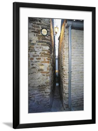 Narrowest Alley in Italy, Ripatransone, Marche, Italy--Framed Photographic Print