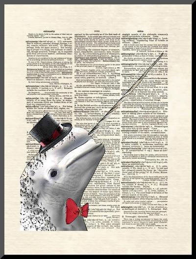 Narwhal Dandy-Matt Dinniman-Mounted Print