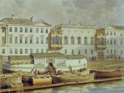 Naryshkin Palace on the Fontanka River, Mid of the 19th C-Ludwig Premazzi-Giclee Print