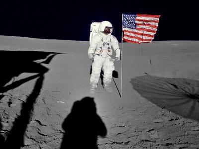 NASA Astronaut ?Spacewalk Moon Photo Poster Print--Poster