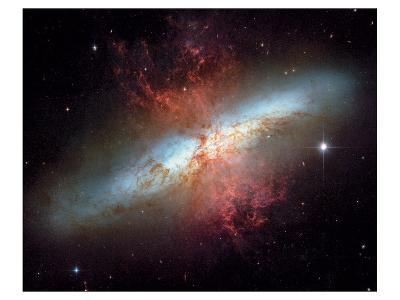 NASA - Starburst Galaxy M82--Art Print