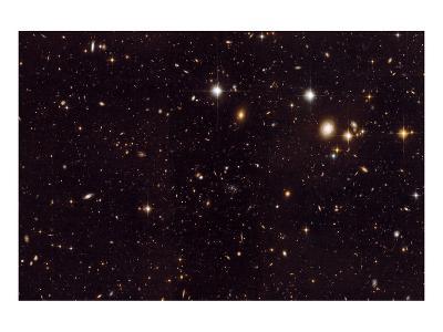 NASA - View of Spiderweb Galaxy Field--Art Print