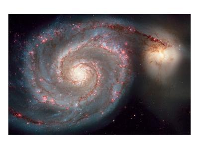 NASA, Whirlpool Galaxy--Art Print