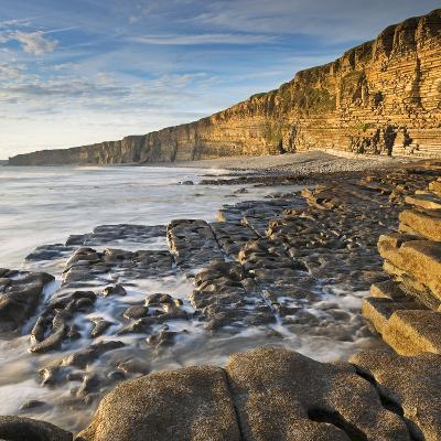 Nash Point on the Glamorgan Heritage Coast, South Wales, UK. Summer (August)-Adam Burton-Photographic Print