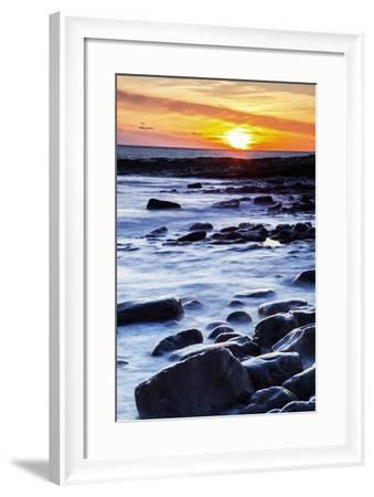 Nash Point, Vale of Glamorgan, Wales, United Kingdom, Europe-Billy Stock-Framed Photographic Print