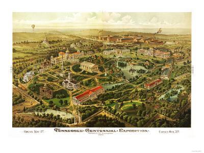 Nashville, Tennessee - Nashville Exposition-Lantern Press-Art Print