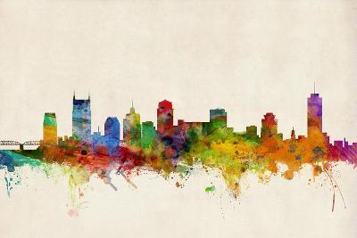 Nashville Tennessee Skyline-Michael Tompsett-Art Print