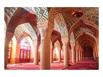 Nasir al-Mulk mosque Shiraz Iran--Art Print