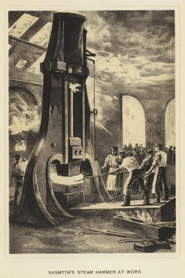 Nasmyth's Steam Hammer at Work--Giclee Print