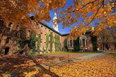 Nassau Hall At Fall, Princeton University-George Oze-Photographic Print