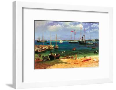 Nassau Port-Albert Bierstadt-Framed Art Print