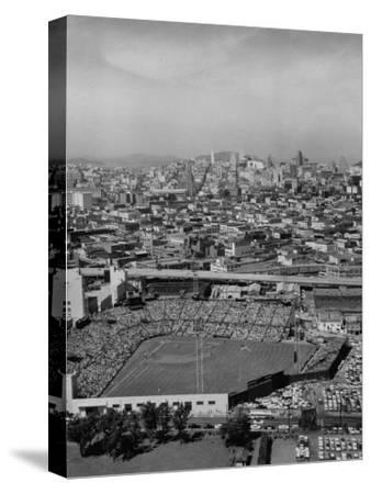 Ariels of Seals Stadium During Opeaning Day, Giants Vs. Dodgers