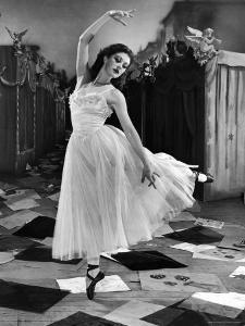 "Ballet Dancer Moira Shearer's Solo Dance in Scene from British Ballet Film ""Red Shoes"" by Nat Farbman"
