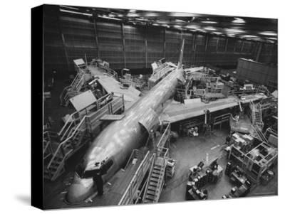 Boeing's New 707 Jet Aircraft, at the Boeing Plant
