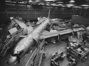 Boeing's New 707 Jet Aircraft, at the Boeing Plant by Nat Farbman