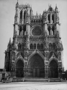 Exterior View of Amiens Cathedral by Nat Farbman