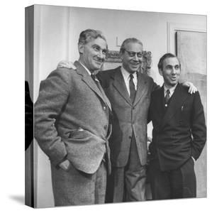 Head of London Film Productions Alexander Korda with His Brothers Vincent Korda and Zoltan Korda by Nat Farbman