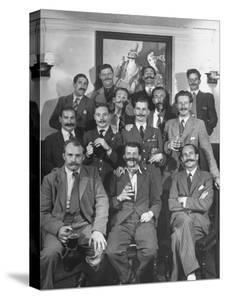 Members of Handlebar Club Posing for Photograph by Nat Farbman