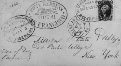 Note Sent Via the Pony Express