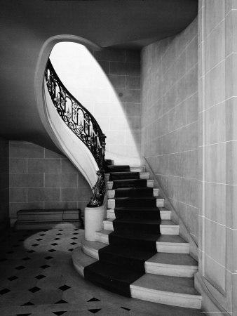 Staircase Inside Mansion Named Carolands, Built by Mrs. Harriet Pullman Carolan Schermerhorn