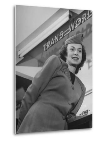 Twa Stewardess Jean Herman at Shannon Airport by Nat Farbman