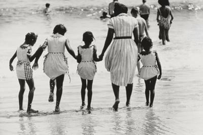 Mother and 4 Daughters Entering Water at Coney Island, Untitled 37, c.1953-64