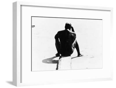 Shirtless Seated Man at Coney Island, Untitled 32, c.1953-64