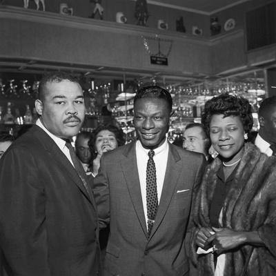 Nat King Cole Is Flanked by Boxing Great Joe Louis and His Wife Rose Morgan-G. Marshall Wilson-Photographic Print