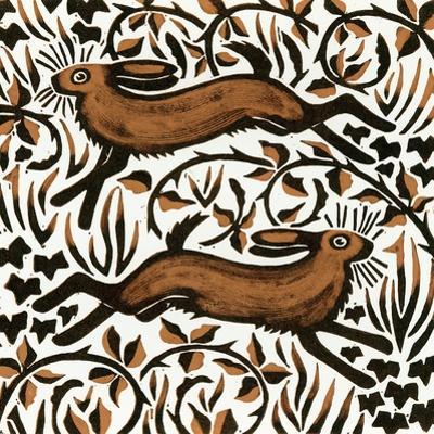Bramble Hares, 2001 by Nat Morley