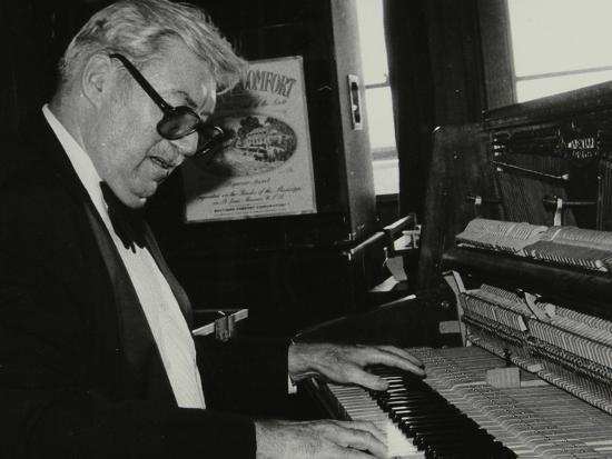 Nat Pierce at the Piano, London, 1984-Denis Williams-Photographic Print
