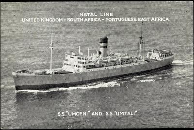 Natal Line, S.S. Umgeni, S.S. Umtali, Dampfer--Giclee Print