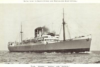 Natal Line, T.S.S Umgeni, Umtali, Umtata,Dampfschiff--Giclee Print