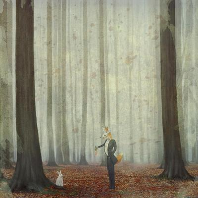 The Fox in a Wood to Hunt on a Hare