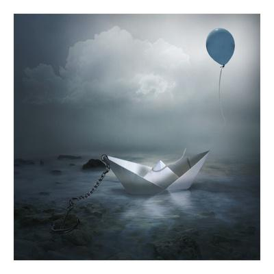 Paper Boat and Balloon