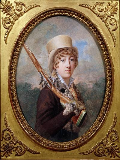 Natalie de Laborde de Mereville, Comtesse Charles de Noailles, in the Park at Mereville, circa 1805- Dutailly-Giclee Print