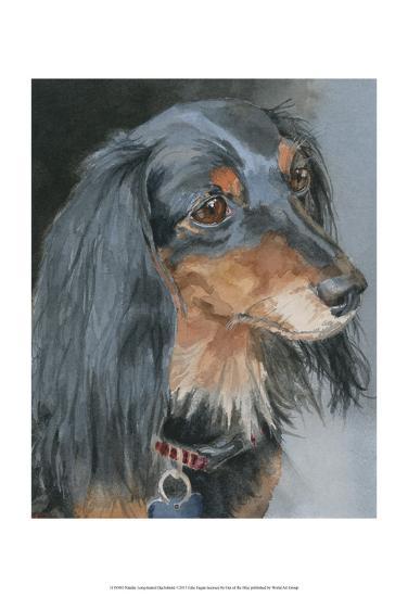 Natalie Long-haired Dachshund-Edie Fagan-Art Print