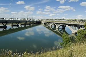 Bridge over Missouri River, Great Falls, Montana, Usa by Natalie Tepper