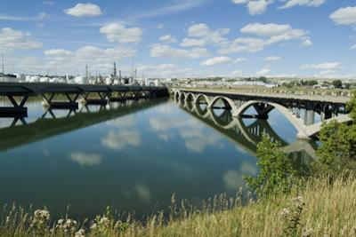 Bridge over Missouri River, Great Falls, Montana, Usa by Natalie Tepper