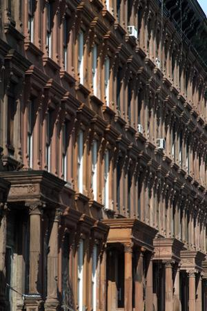 Brownstones in Harlem, New York City, New York, Usa by Natalie Tepper
