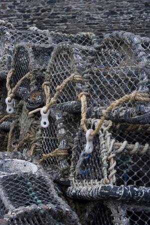 Detail of Crab Pots, Port Isaac, Cornwall, UK by Natalie Tepper