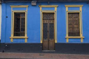 Doorway and Windows in La Candelaria (Old Section of the City), Bogota, Colombia by Natalie Tepper