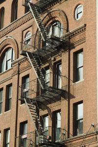Fire Escapes, Tribeca, New York City, Ny, Usa by Natalie Tepper